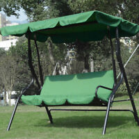 Patio Swing Chair 3-Seat Backrest Cushion Replacement Cover Outdoor Garden Green