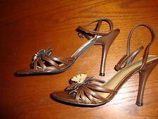 Delicious Open Toe Sandal Platform Stiletto Heel Ankle Strap Brown Sz 7      134