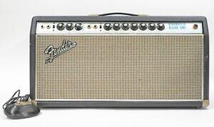 1969 Fender Bandmaster Reverb Amplifier Head TFL5005D - Silverface Drip Edge