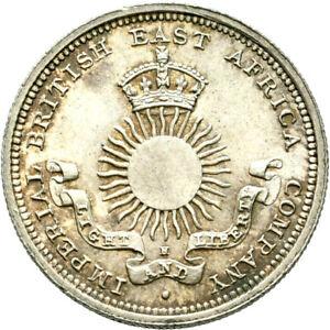 LANZ BRITISH EAST AFRICA 1/4 RUPEE 1890 SILVER ^EWR704