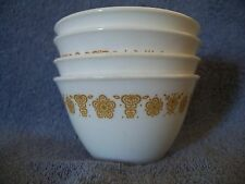 CORELLE CORNING - 4 Vintage BUTTERFLY GOLD HOOK OPEN HANDLE CUPS EUC