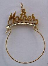 GOLD MOTHER / MOM CHARM HOLDER BIRTHSTONE KIDS BRATS
