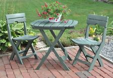 Patio Furniture Set 3 Piece Outdoor Bistro Table Chair Deck Porch Garden Camping