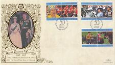 (12567) Cayman Islands Benham FDC Queen Royal Golden Wedding 10 July 1997