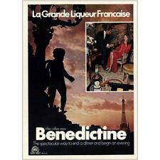 1973 Benedictine: La Grande Liqueur Francaise Vintage Print Ad