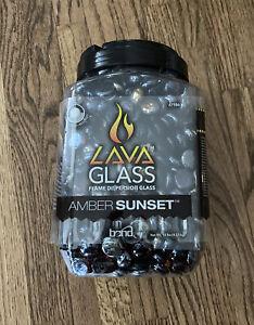 Bond 67986 Amber Sunset Amber Gloss Glass Fire Pit Lava Glass