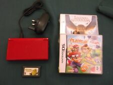 Nintendo DS lite Handheld Console red charger 3 games see photo