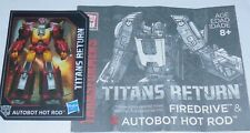 Transformers Titans Return HOT ROD Rodimus BIO and MANUAL