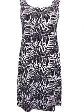 Black/White Palm Print Beach Dress, Size 16, By Tutti Frutti, BNWT