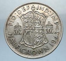 1944 Great Britain United Kingdom UK GEORGE VI Silver Half Crown Coin i66835