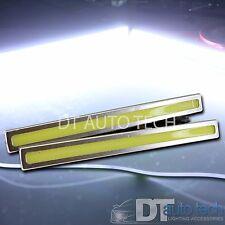 2x Silver 6W LED COB DRL Daytime Running Light Car Driving Bar Universal DC 12V