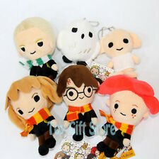6x harry potter Hermione Ron Malfoy Dobby Hedwig 10-14CM Plush Doll Stuffed Toy