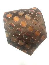 Stafford Mens Brown Polkadot Pattern 100 % Silk Classic NeckTie