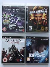 PS3 Games-Saints Row 3+Mercenaries 2+Beyond Two Souls+Assassins Creed 2   -(952)