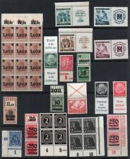 Germany Reich 1920-. Collection of 42.Se-Tenant,Margins.MNH/MLH.Very fine.