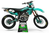KAWASAKI KX KXF 85 125 250 450 500 MOTOCROSS GRAPHICS KIT All Years and Models