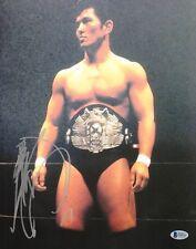 Minoru Suzuki Signed 11x14 Photo BAS COA w Pancrase Belt New Japan Pro Wrestling
