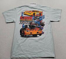 Cam Motion Baton Rouge Racing Gray Graphic Print T-shirt Men's Medium