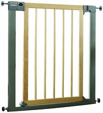 LINDAM SURE SHUT SAFETY STAIR GATE (75-82cm) - WOOD/METAL - WAREHOUSE CLEARANCE