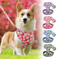 Step in Pet Cat Dog Harness with Leash Set Reflective Escape Proof Puppy Vest
