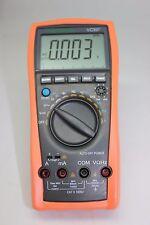 AideTek VC99+ 6999 auto range multimeter Amp C F Temp analog bar R C F diode buz