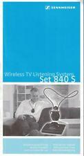 Sennheiser Wireless TV Listing System Set 840 S Instructional MANUAL 06/09