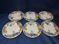 """Vintage Gibson Designs """"Sorbet"""" Set/6 Salad Plates Retired 2001"""