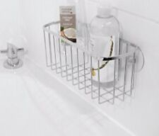 chrome Bath Shower Shampoo Holder Basket suction bath shower organiser caddy