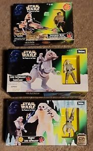 Star Wars Power of the Force Skywalker and Tauntaun, Wampa & Speeder Bike NIB