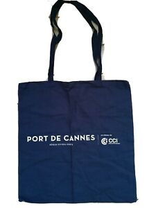 Carry Bag Port de Cannes Nice French Riviera Côte d'Azur 36.5x39.5cm Navy Blue