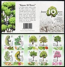 Singapur estampillada sin montar o nunca montada 2010 saber 10 árboles folleto completo.