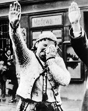 New 8x10 World War II Photo: Sudeten Woman Weeps in a Forced Nazi Salute