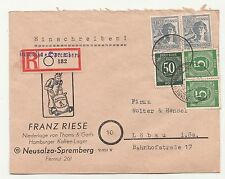 R-Brief Neusalza - Spremberg nach Löbau 1948 Mischfrankatur !