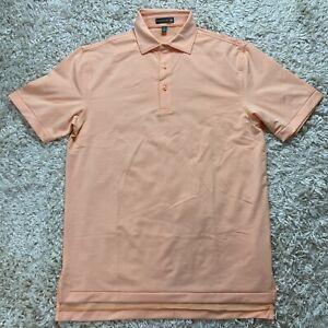 Peter Millar Summer Comfort Men's Small Striped Short Sleeve Golf Polo Shirt