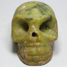 Antique Chinese Hongshan Jade death's-skull statue 548g