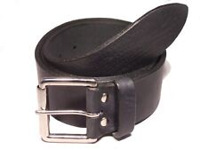 Silver Roller 2 Inch Leather Belt Waist Size Mens Ladies Handmade Measure Colour