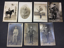 Lot de 7 cartes postales anciennes photos militaires  poilus militaria www1