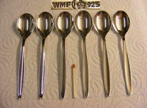 WMF Stockholm 925er Sterling Silber - 6 Kaffeelöffel 13,4 cm