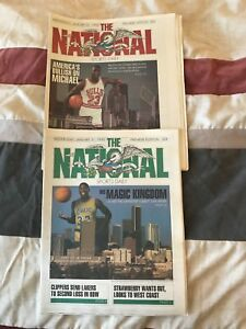 2 National sports Daily Premier Editions 1 Jordan cover 1 Johnson cover NM cond