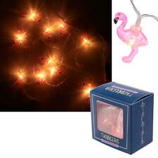 LED Lichterkette Flamingo Flamingos Lichtgirlande Leuchtdeko Dekolicht Bad 1,8 m
