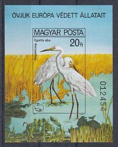 Hungary Block 146 B Bird Silberreiher (MNH)