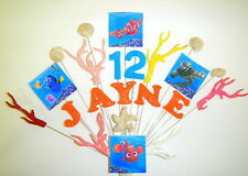 Any name and age finding nemo, fish, underwater birthday cake topper.