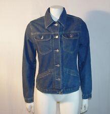 Phard giubbotto di jeans donna maniche lunghe TG M blu usato e originale