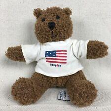 "Baby Gap Teddy Bear Brannan With Tee shirt Brown Plush Vintage Beanie 6"" Sitting"