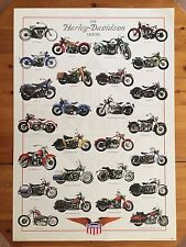 THE HARLEY-DAVIDSON LEGEND,RARE AUTHENTIC 1998 POSTER