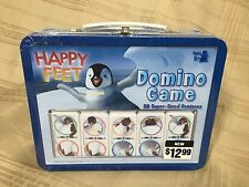 """Collectible """"Happy Feet"""" Dominoes Game 28 Super Sized Dominies Sealed NEW IN BOX"""