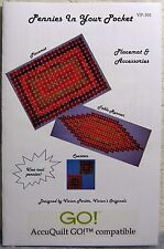 """""""Pennies in Your Pocket"""" Quilt Pattern: Placemat & Accessories (+AccuQuilt Go!)"""