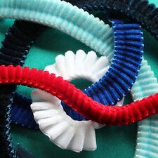 DIY Browbrand Craft - 50cm X 16mm Velvet Ribbon Pleated. 18 Colours