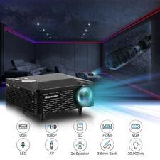 Mini 1080P Multimedia HD Video Projector AV VGA HDMI USB Home Theater Movie US