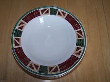 "Tienshan Stoneware PRAIRIE Set of 6 Dinner Plates 11"" Red Barn Design"